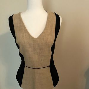 Ann Taylor Sleeveless top with back zipper